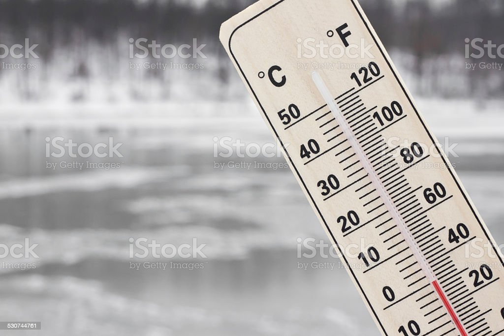 cold winter weather stock photo