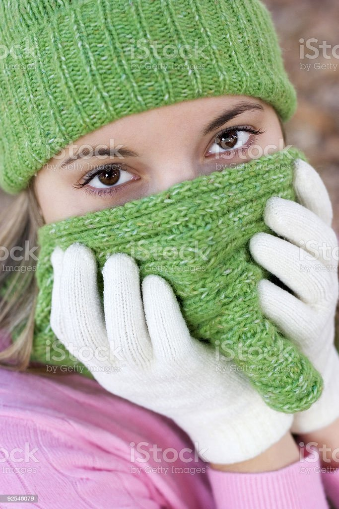 Cold Woman royalty-free stock photo