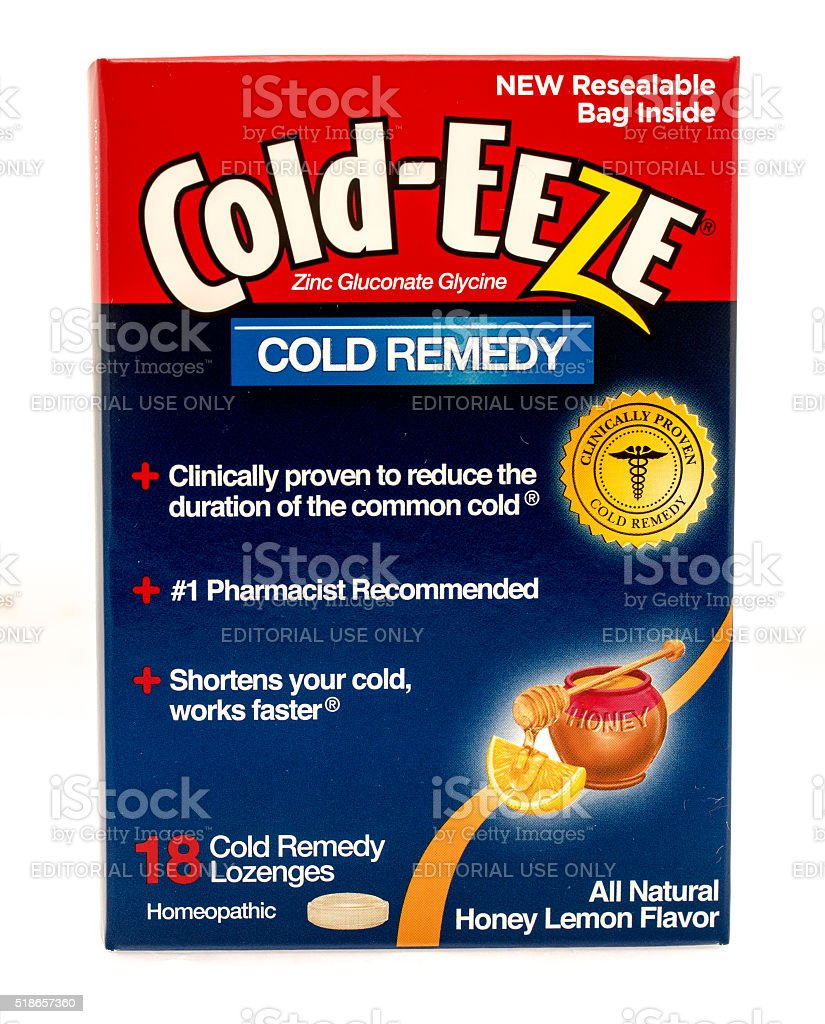 Cold-Eeze Cold Remedy stock photo