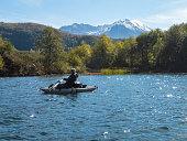 Coldwater Lake Washington State Pontoon Boat Mount St Helens Dome