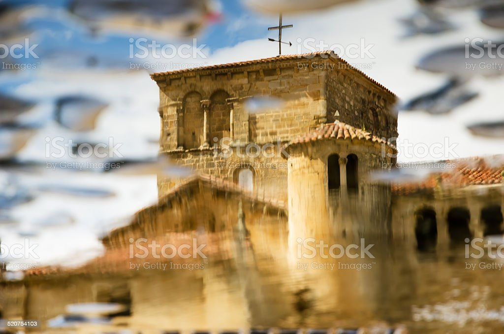 Colegiata of Santillana del Mar stock photo