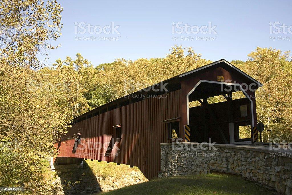 Coleman Covered Bridge stock photo