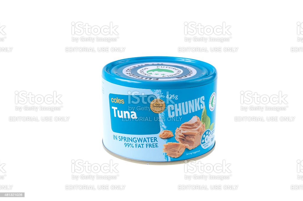 Coles Tuna Chunks stock photo