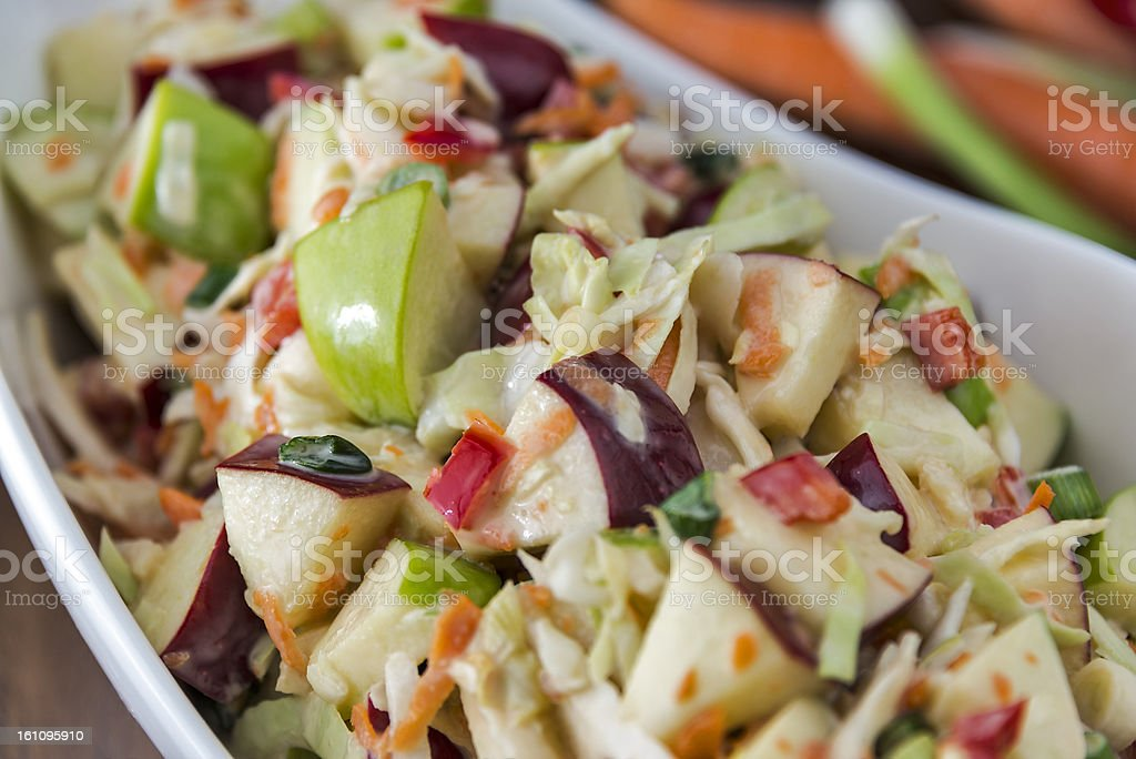 Coleslaw with apples stock photo