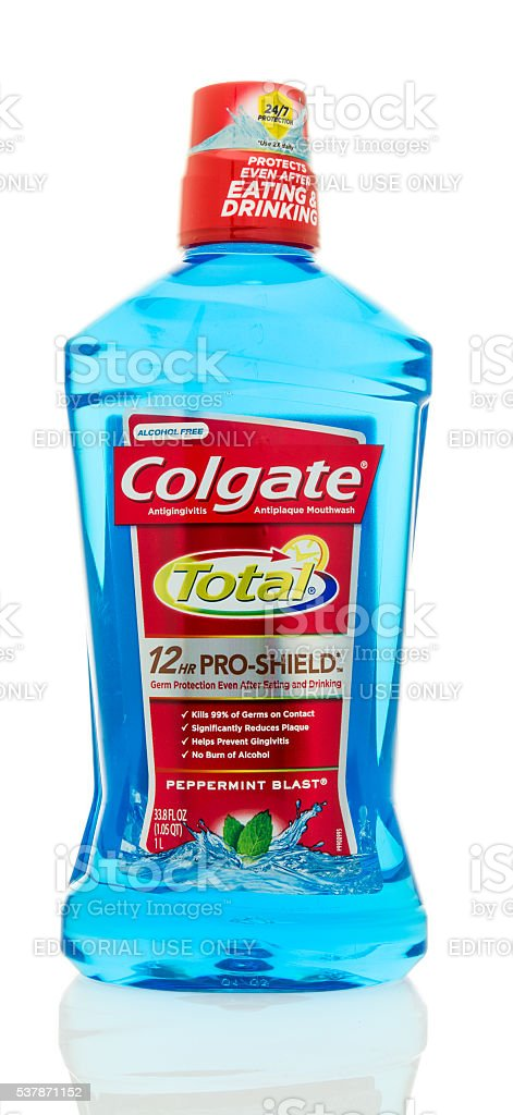 Colgate Total Mouth Wash stock photo
