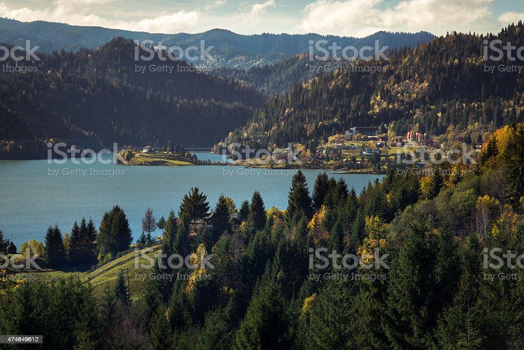 Colibita Lake - Romania stock photo