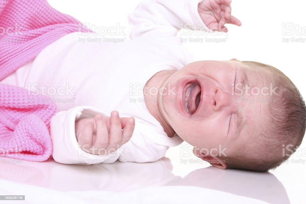 colicky baby stock photo
