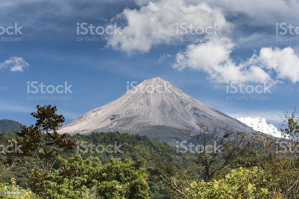 Volcán de Colima, Colima/Jalisco Mexico stock photo