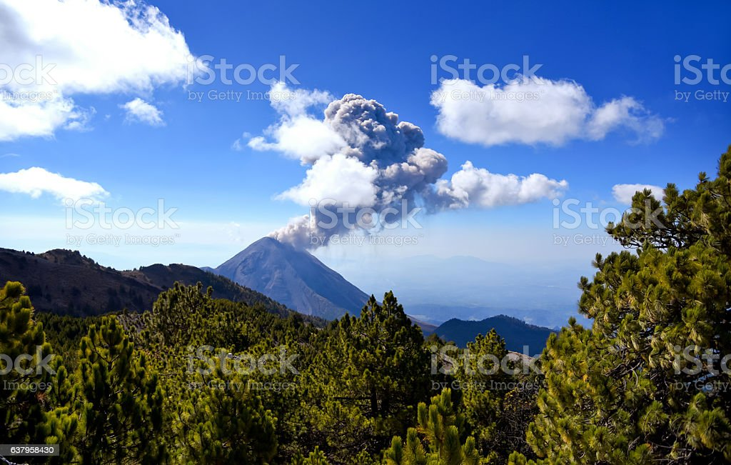 Volcán de Colima. stock photo