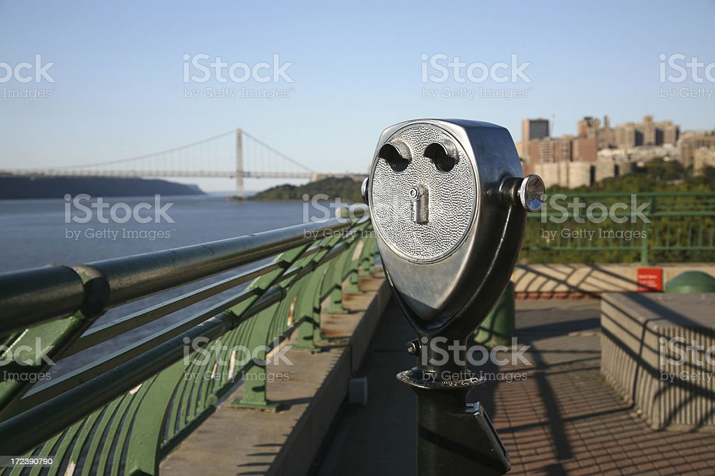 Colin Operated Binocular On Overlook stock photo