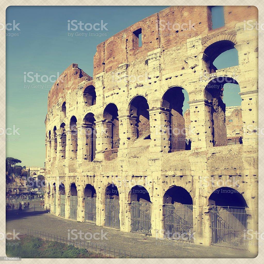 Coliseum amphitheater royalty-free stock photo