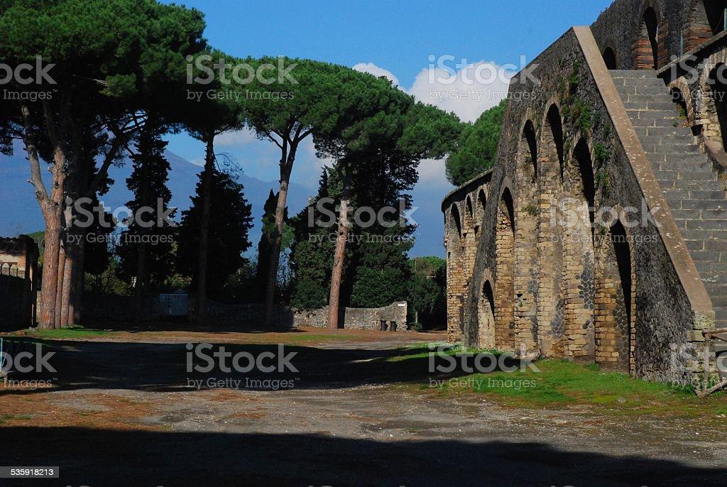 Coliseum at Pompeii royalty-free stock photo