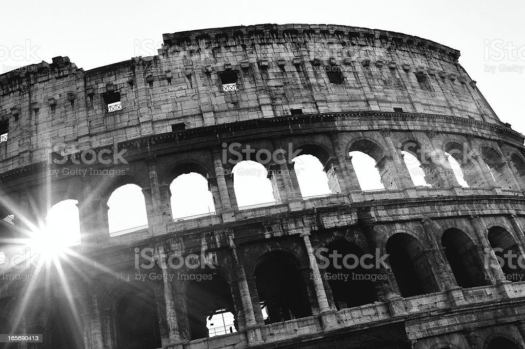Coliseum. Black and White royalty-free stock photo