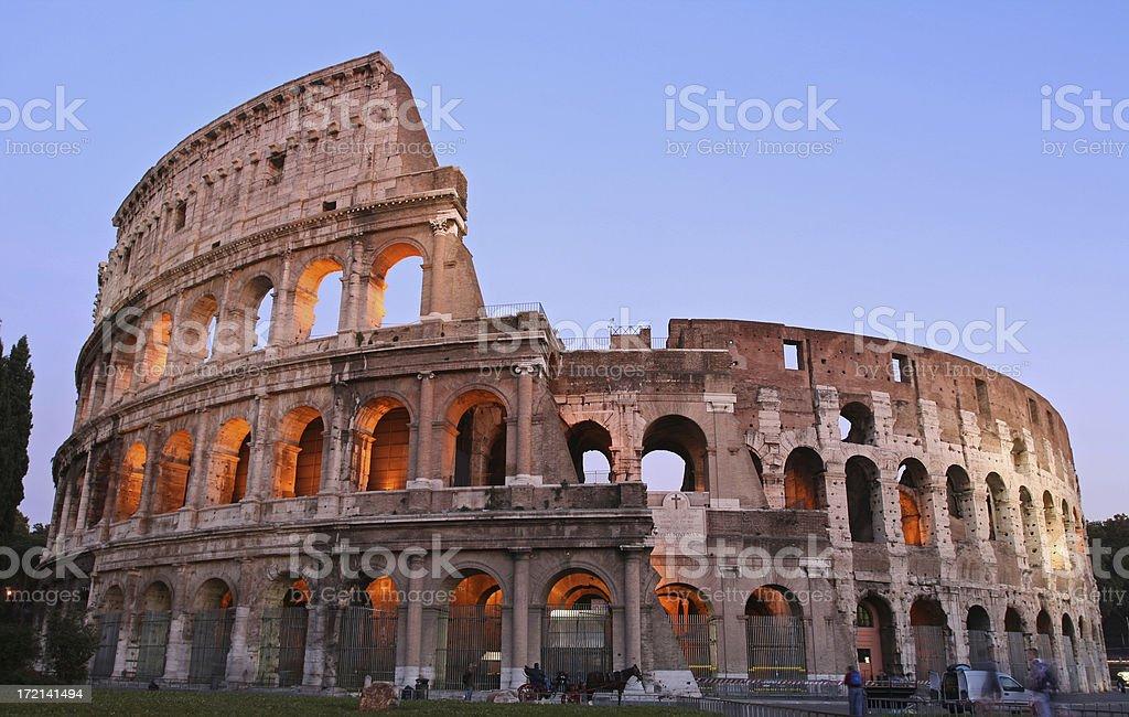 Coliseum by night-dusk,Rome Italy royalty-free stock photo