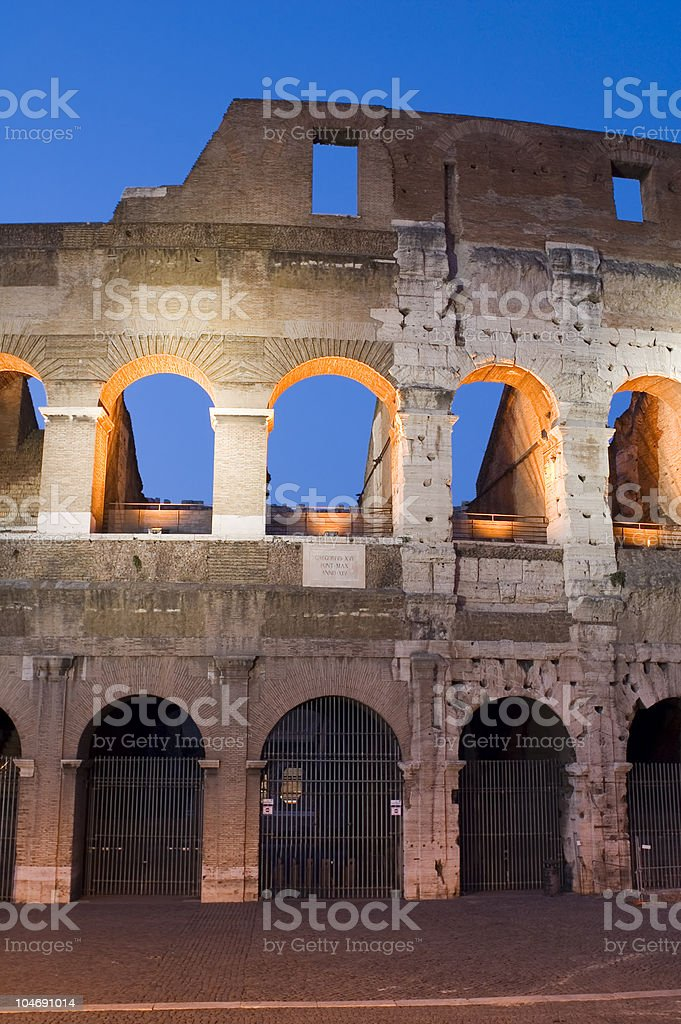 Coliseum closeup royalty-free stock photo