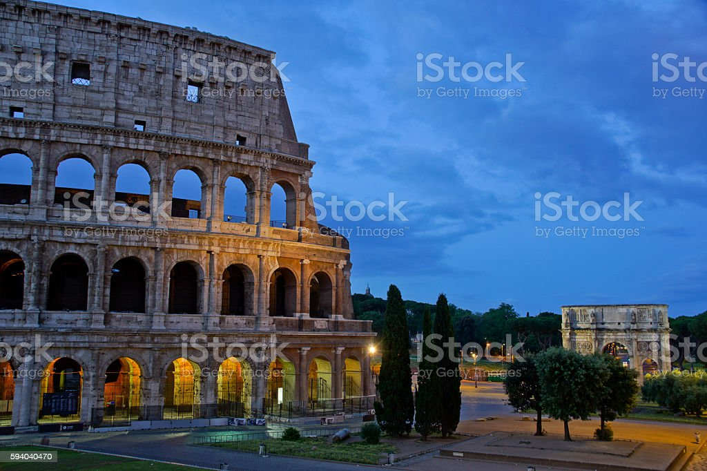 Coliseum 'Colosseo' of Rome Italy stock photo