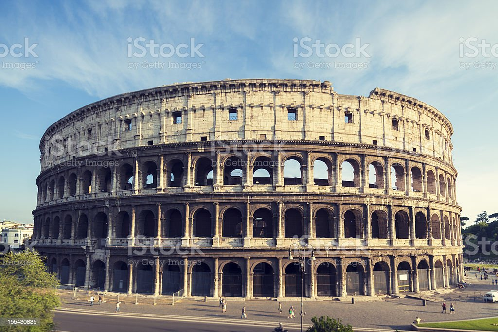 Coliseum in Rome Italy royalty-free stock photo