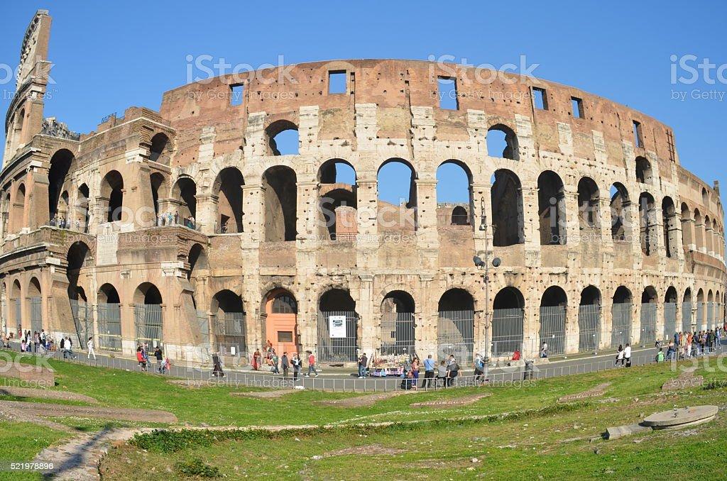 Coliseum in Rome Italy stock photo
