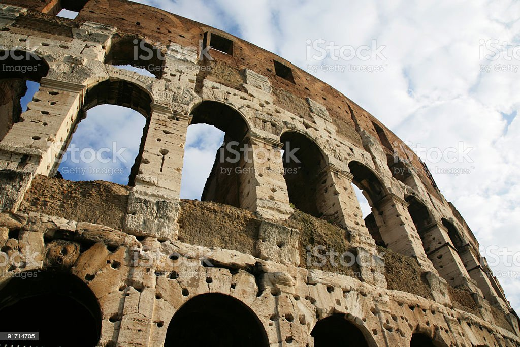 Coliseum, Old walls royalty-free stock photo