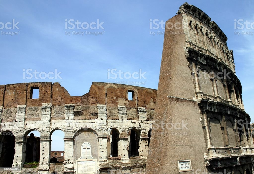 Coliseum with Wall royalty-free stock photo