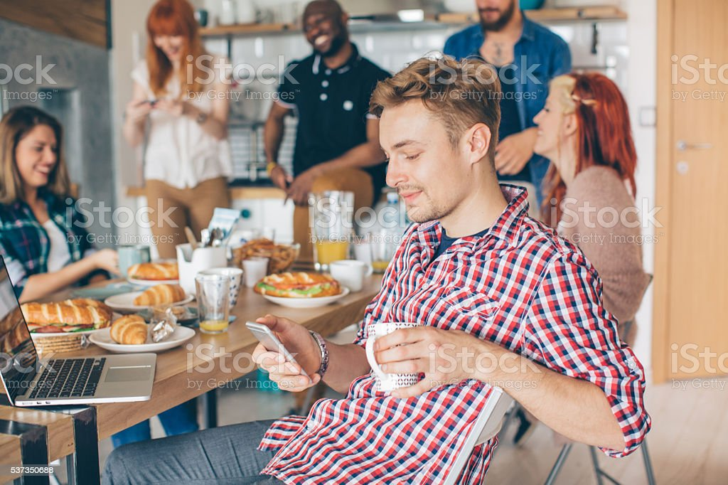 Coliving is new way of life stock photo