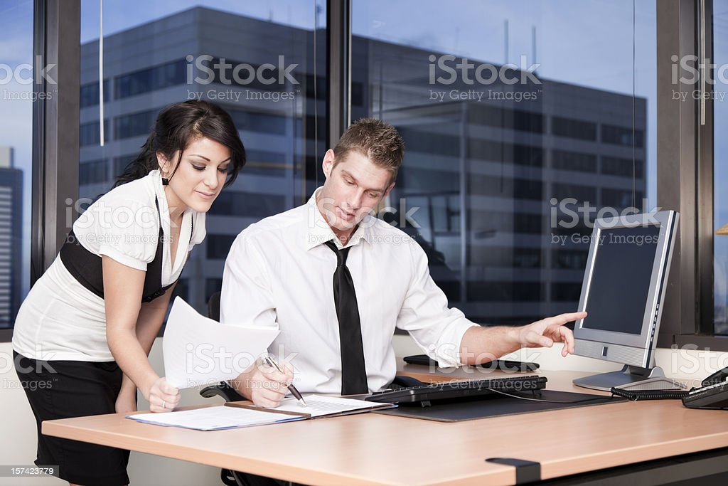 Collaborating Colleagues royalty-free stock photo