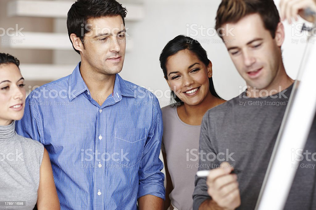 Collaborating creates the best product! royalty-free stock photo