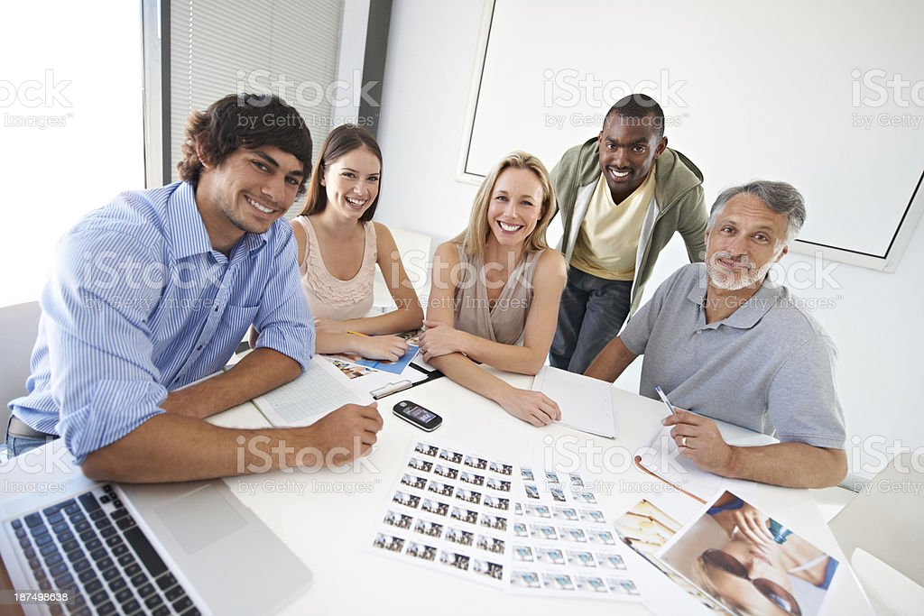 Collaborating on an exciting project royalty-free stock photo