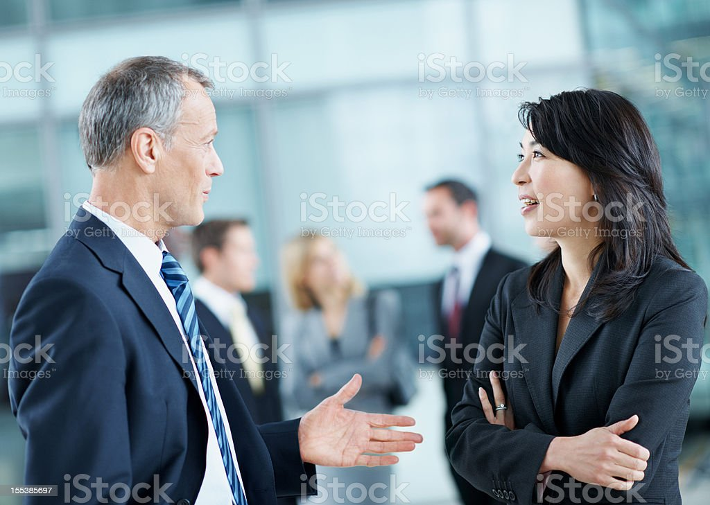 Collaborative conversation royalty-free stock photo