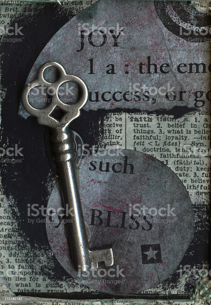 Collage Fragment with Key royalty-free stock photo