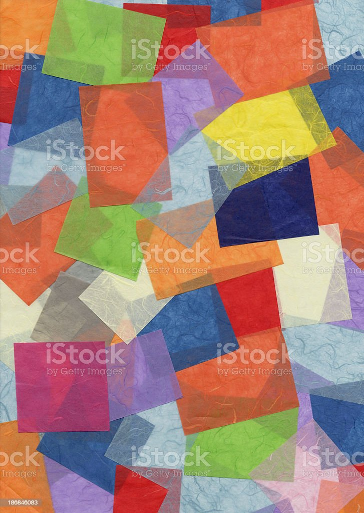 Collage made from colorful scraps of paper royalty-free stock photo