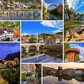 Collage of Bosnia and Herzegovina travel images (my photos)