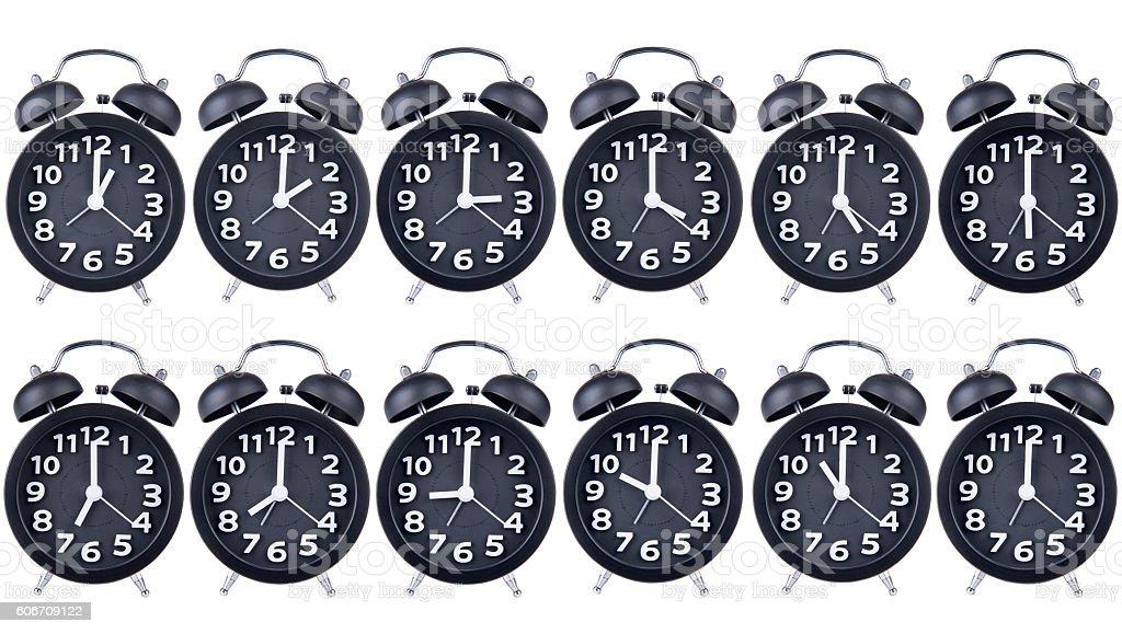 Collage Of Clocks stock photo