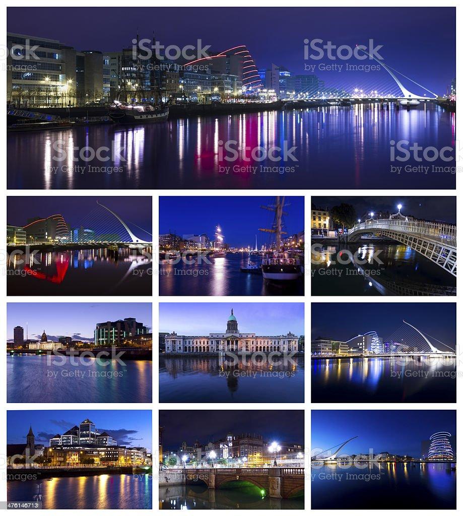 Collage of Dublin city, Ireland stock photo