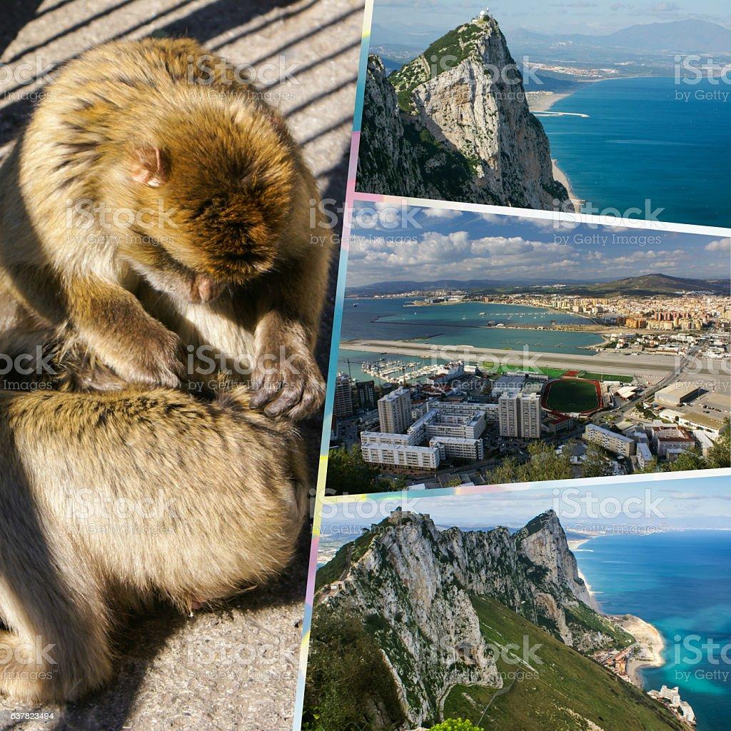 Collage of Gibraltar (my photos) stock photo