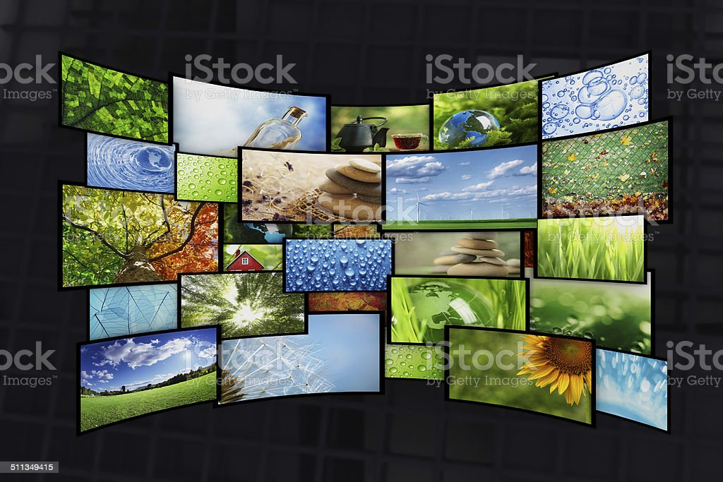 Collage of images stock photo