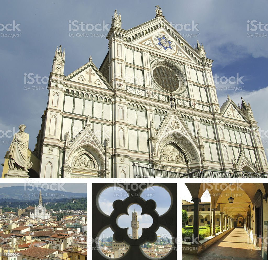 Collage of landmarks, Florence, Italy royalty-free stock photo