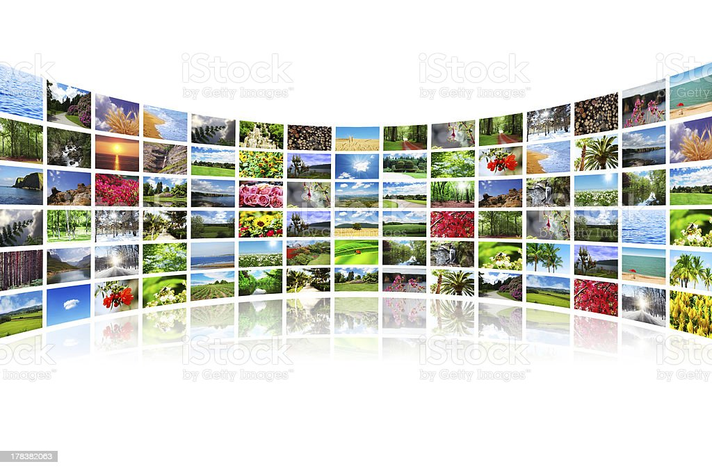 Collage of many nature photos royalty-free stock photo