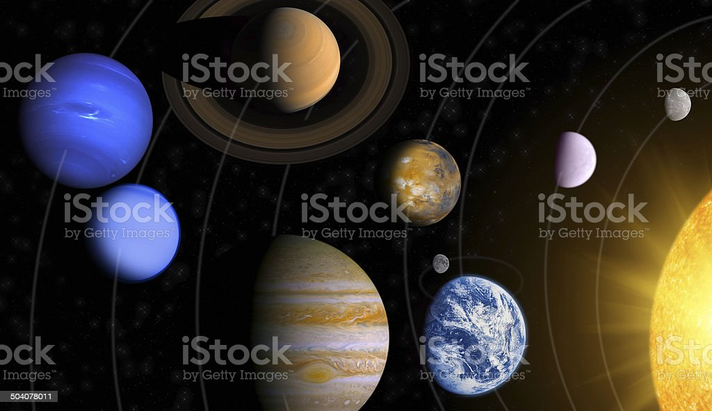 Collage of Solar System stock photo