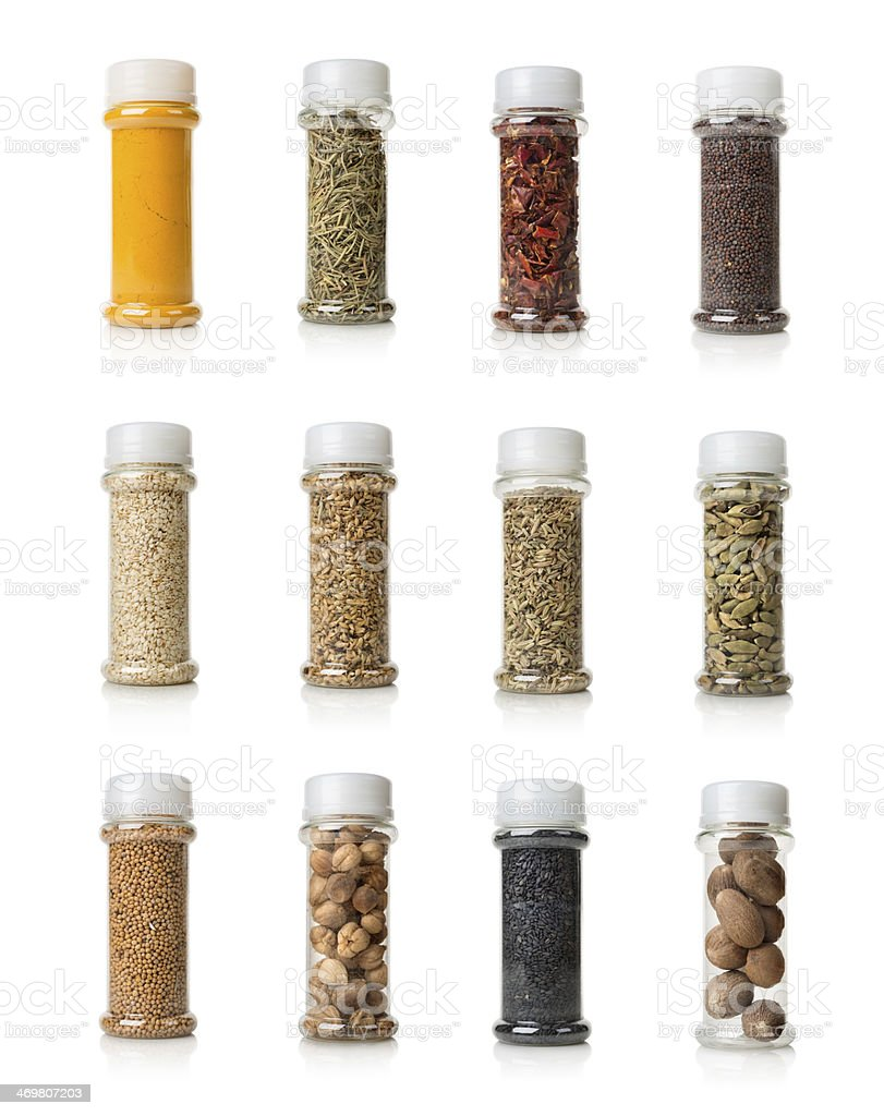 Collage of spices stock photo