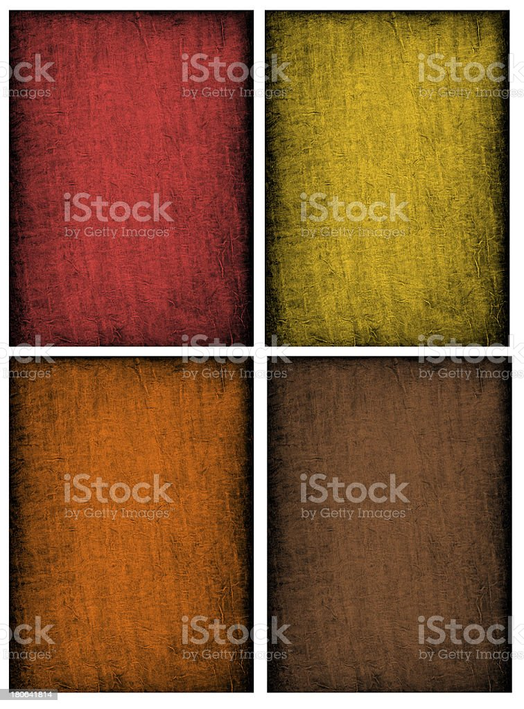 Collage of textured backgrounds in fall colors royalty-free stock photo