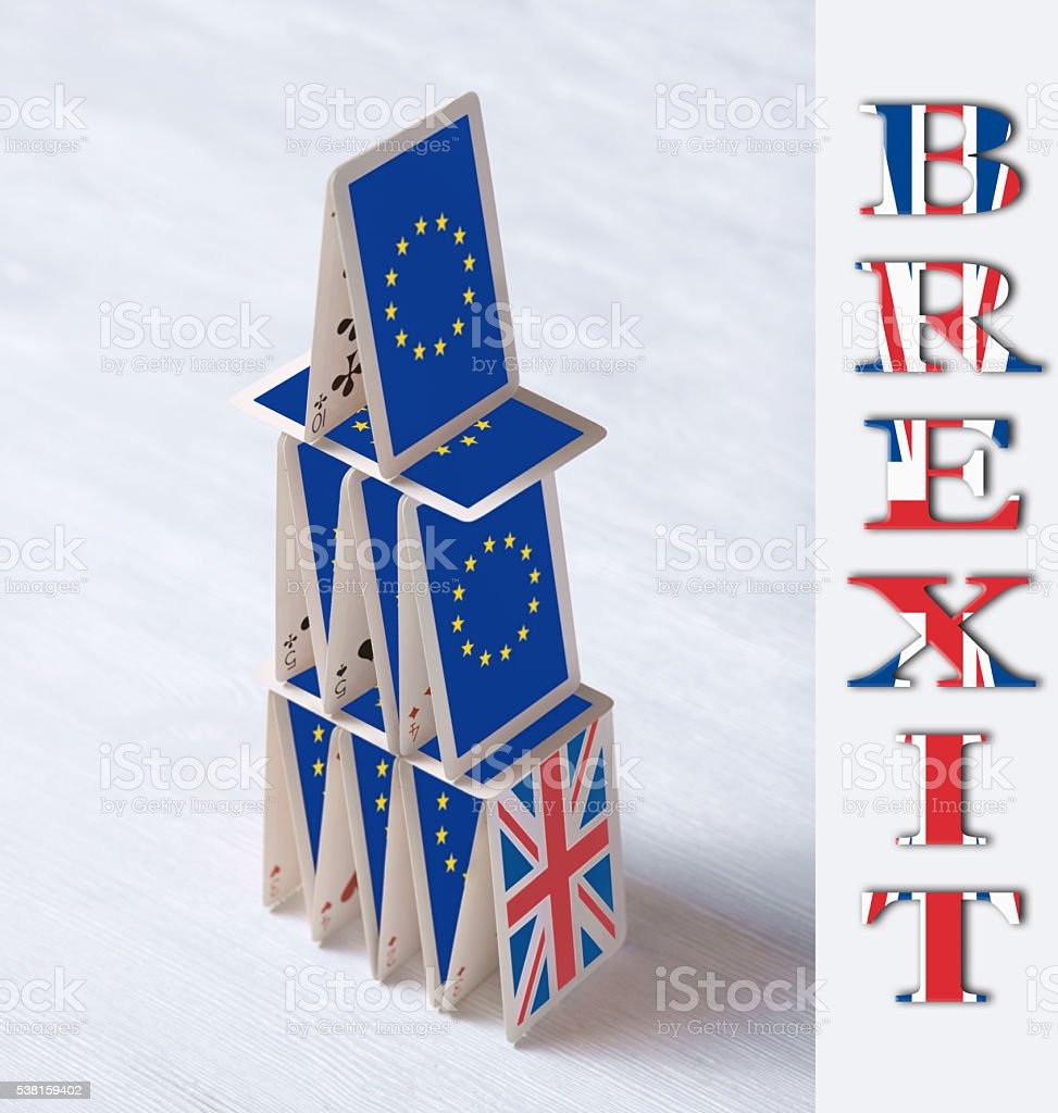 collage on event June 23 Brexit UK EU referendum concept: stock photo