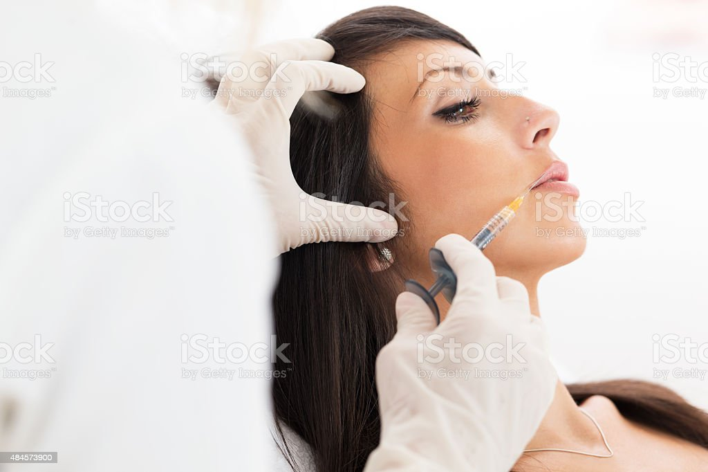 Collagen injection stock photo
