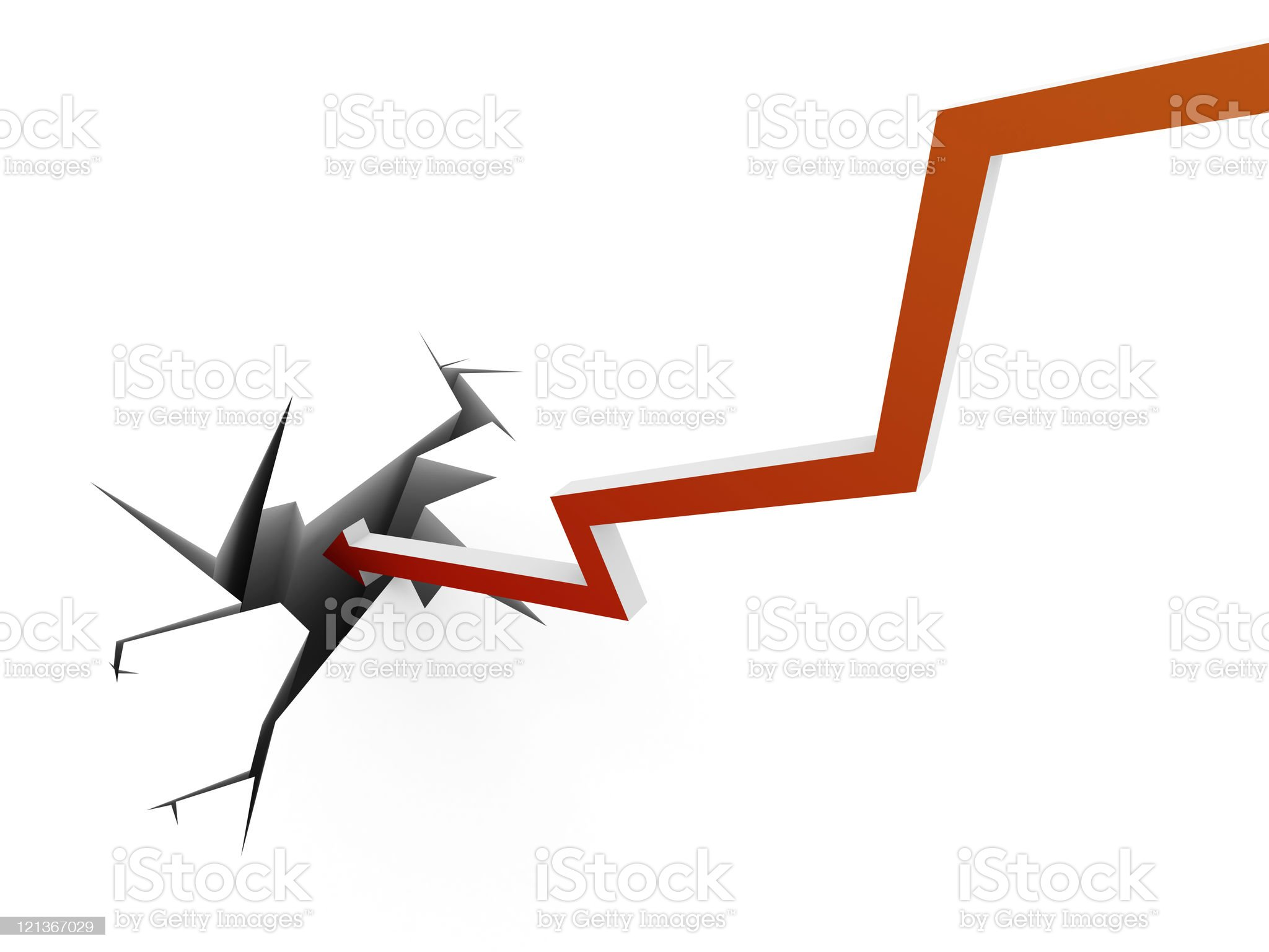 Collapse Arrow Chart royalty-free stock photo