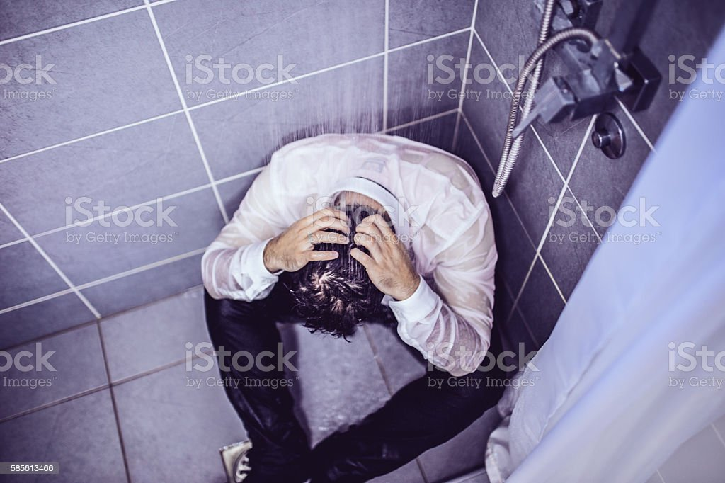 Collapse of the company stock photo
