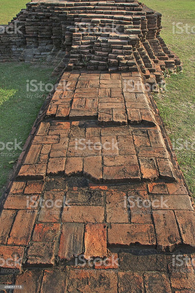 Collapsed Ancient Wall royalty-free stock photo