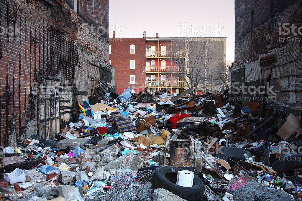 Collapsed building in the Inner City royalty-free stock photo