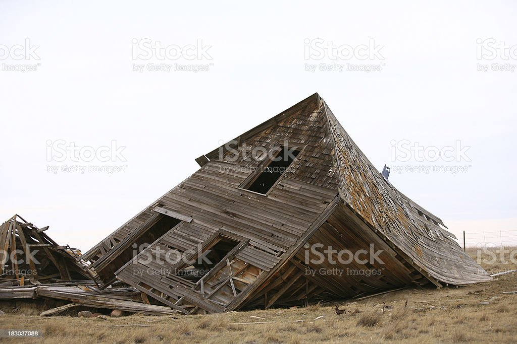 Collapsed House stock photo