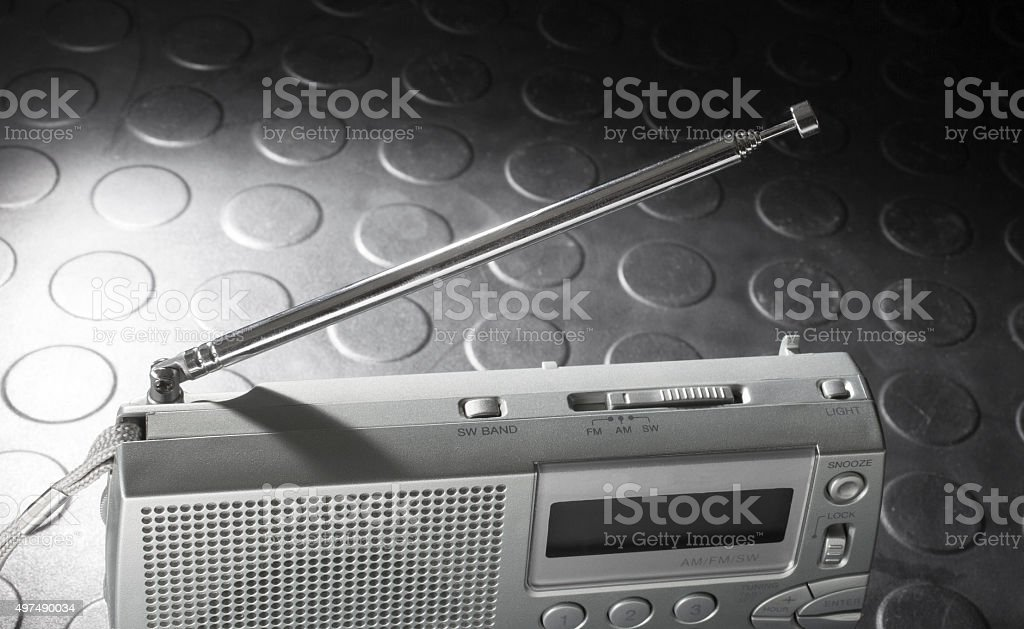 Collapsible antenna stock photo