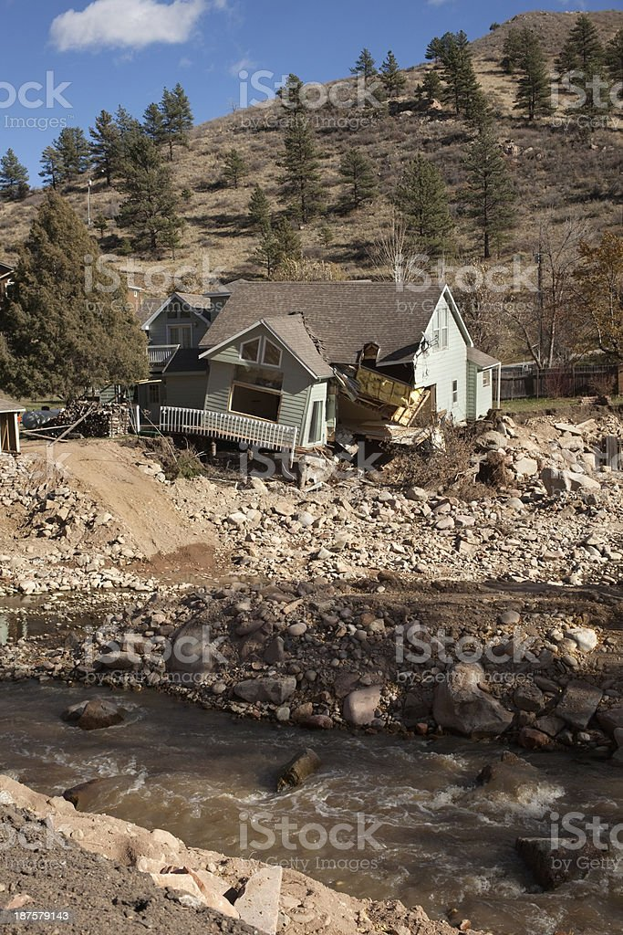 Collapsing home off Highway 36 Colorado stock photo